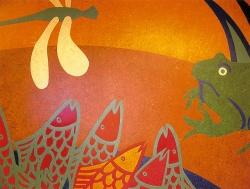 Mural LGI Jubilee Paediatric Cardiac Ward  Water-cut linoleum