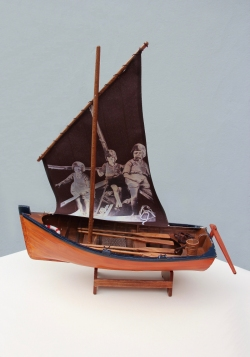 Here are the Swallows – model boat with digital transfer print